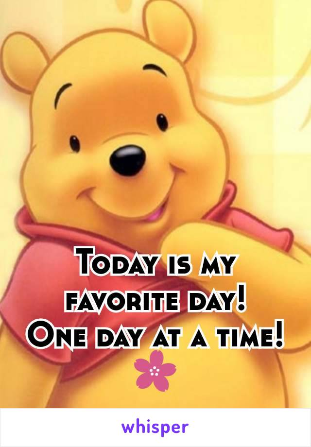 Today is my favorite day! One day at a time!🌸