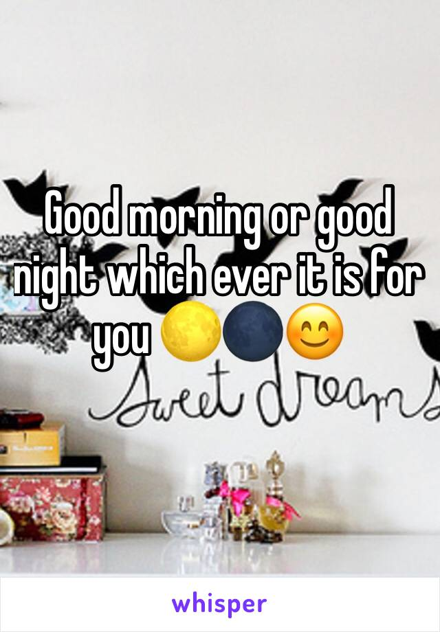 Good morning or good night which ever it is for you 🌕🌑😊