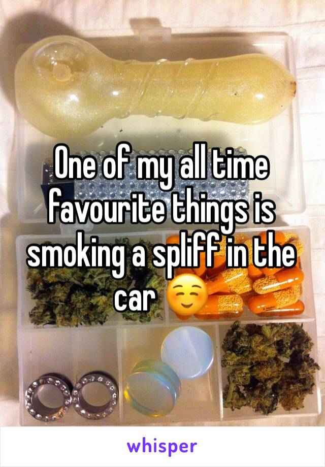 One of my all time favourite things is smoking a spliff in the car ☺️