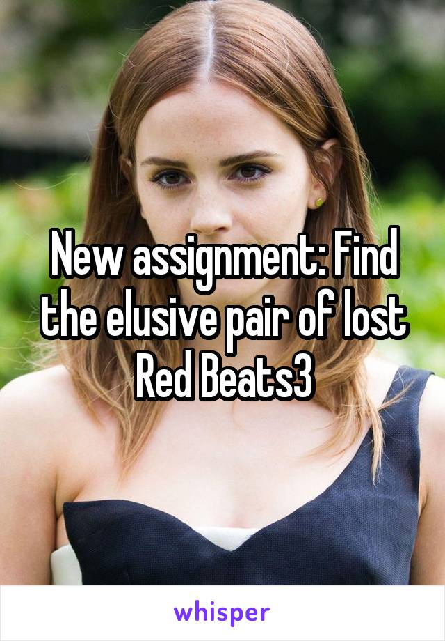 New assignment: Find the elusive pair of lost Red Beats3