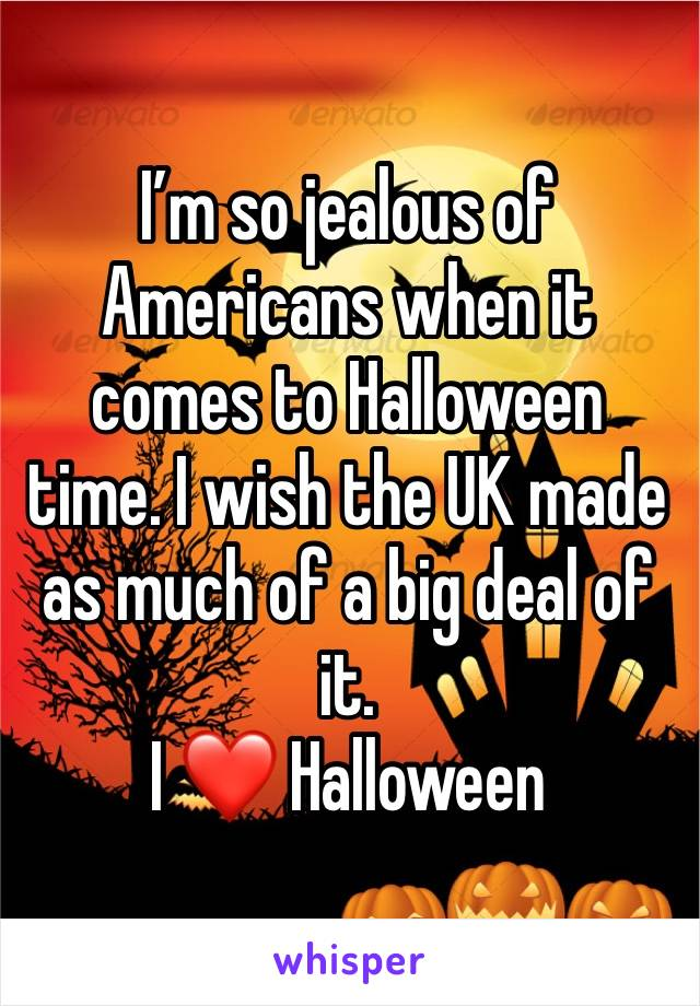 I'm so jealous of Americans when it comes to Halloween time. I wish the UK made as much of a big deal of it.  I ❤️ Halloween