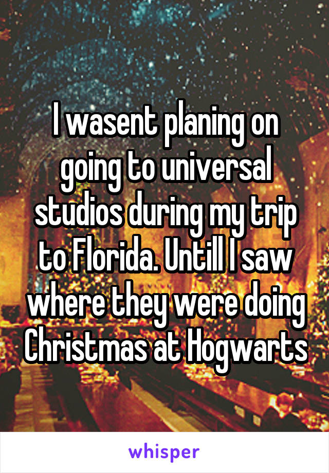 I wasent planing on going to universal studios during my trip to Florida. Untill I saw where they were doing Christmas at Hogwarts