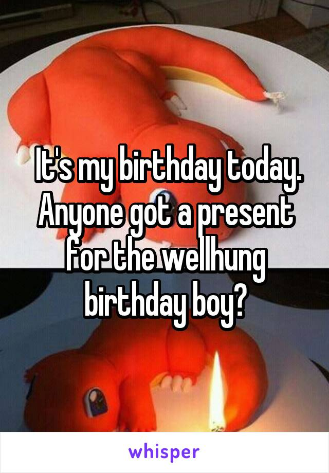 It's my birthday today. Anyone got a present for the wellhung birthday boy?
