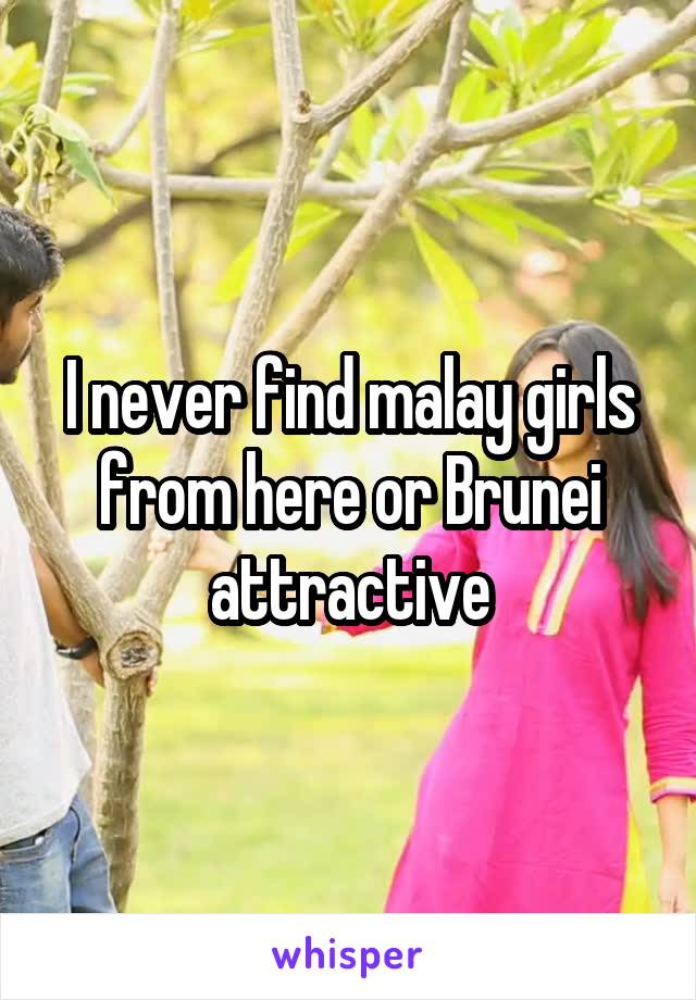 I never find malay girls from here or Brunei attractive