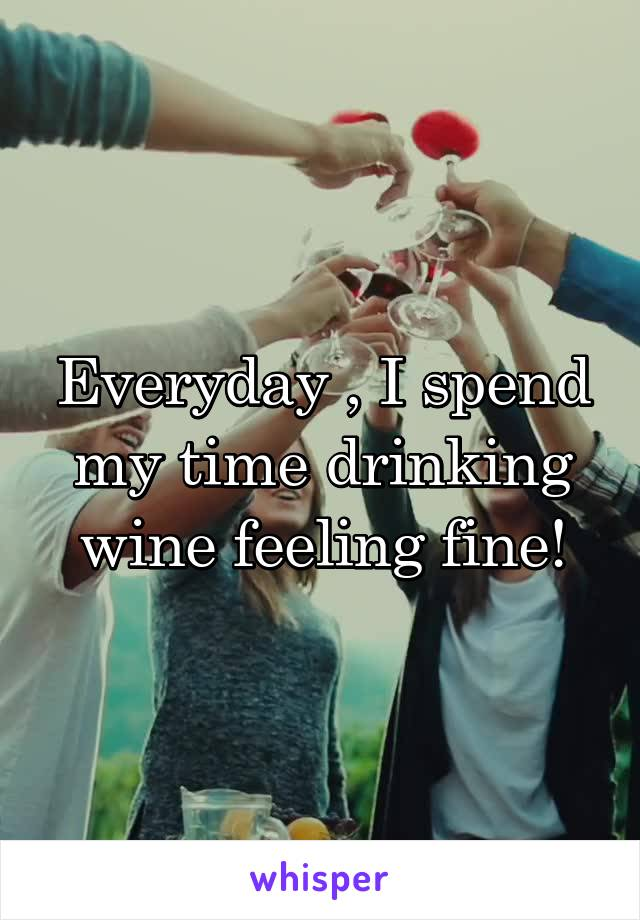 Everyday , I spend my time drinking wine feeling fine!