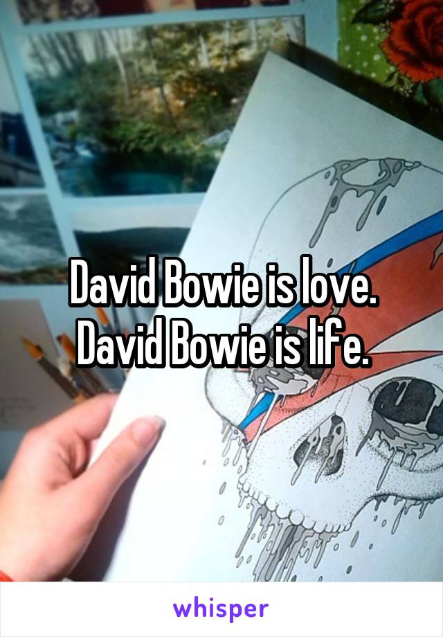 David Bowie is love. David Bowie is life.