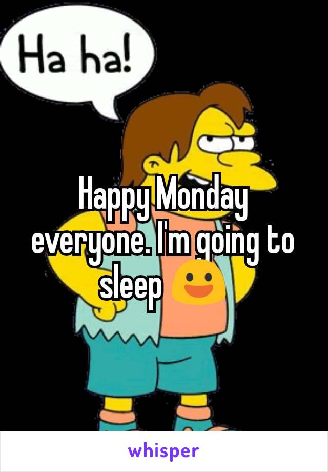 Happy Monday everyone. I'm going to sleep 😃