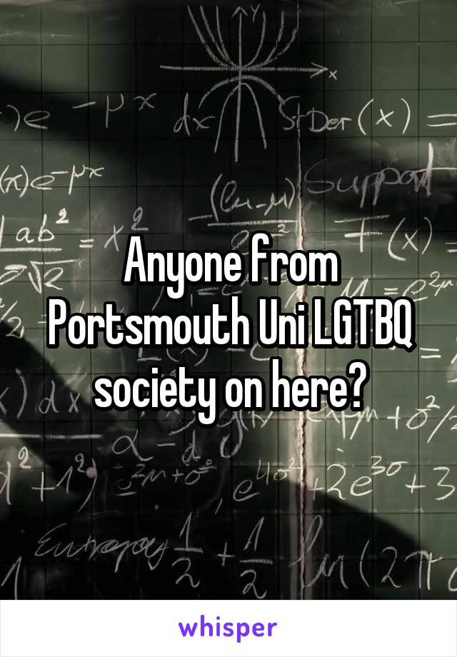 Anyone from Portsmouth Uni LGTBQ society on here?