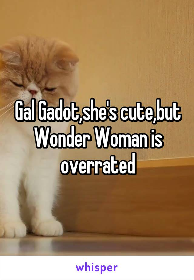 Gal Gadot,she's cute,but Wonder Woman is overrated