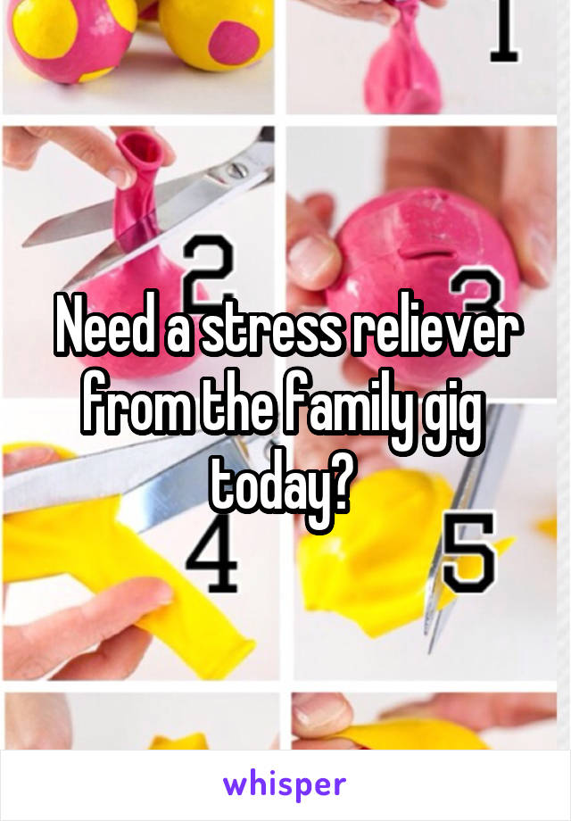 Need a stress reliever from the family gig  today?