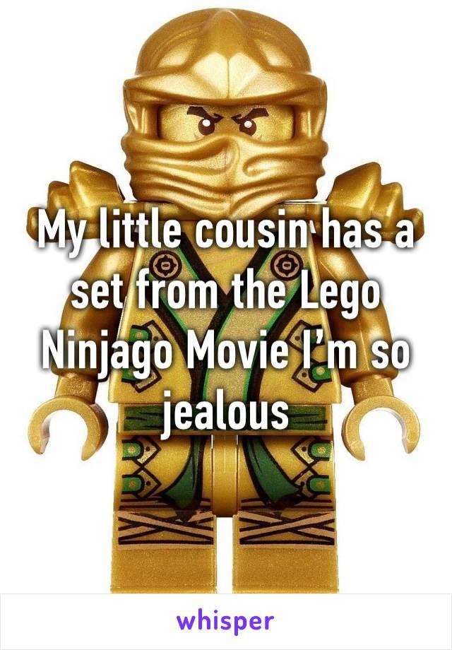 My little cousin has a set from the Lego Ninjago Movie I'm so jealous