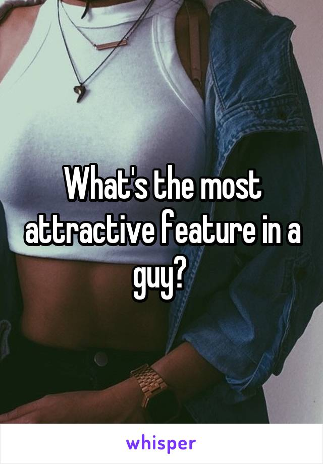 What's the most attractive feature in a guy?