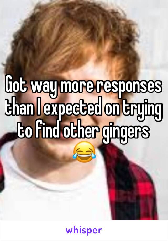 Got way more responses than I expected on trying to find other gingers 😂
