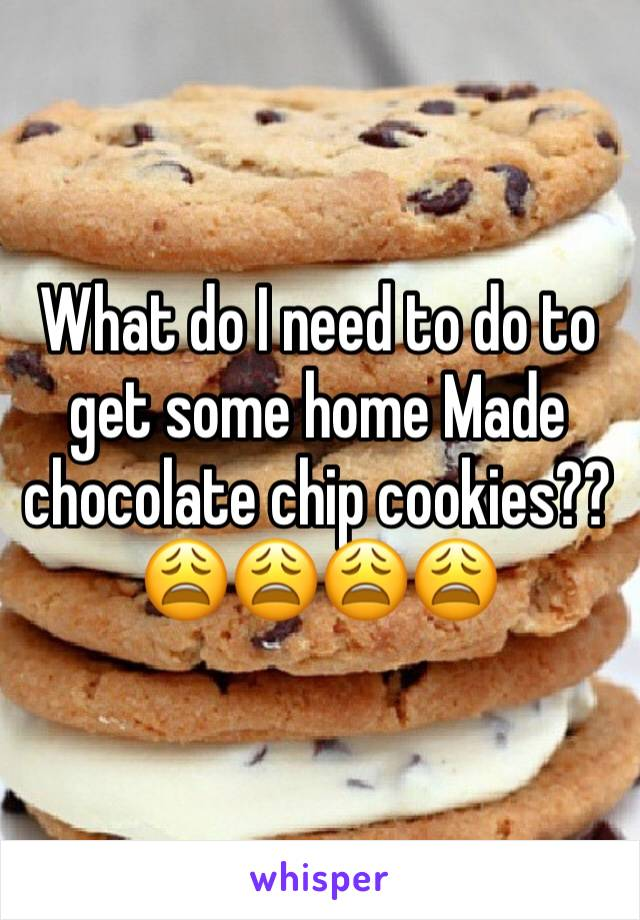 What do I need to do to get some home Made chocolate chip cookies??😩😩😩😩