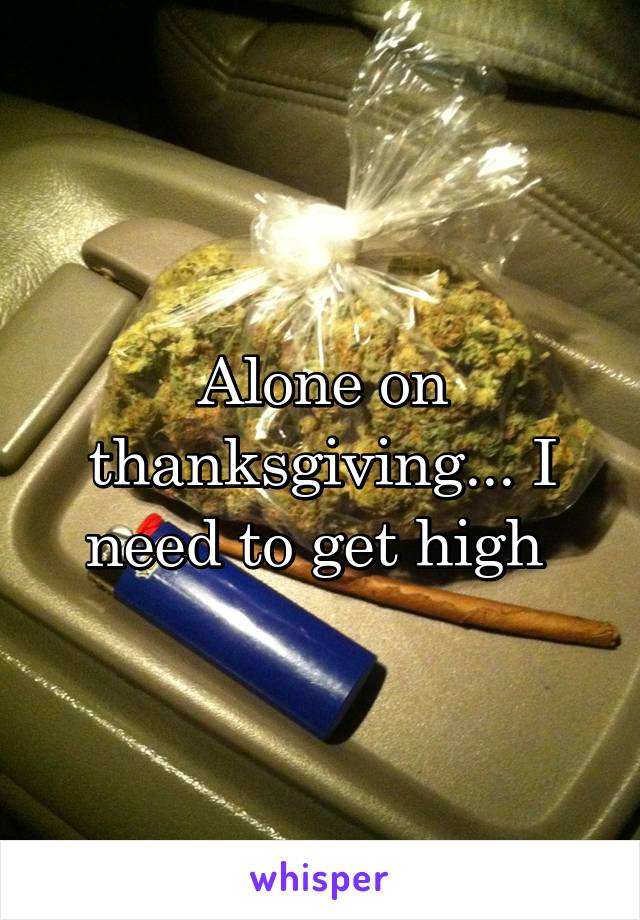 Alone on thanksgiving... I need to get high