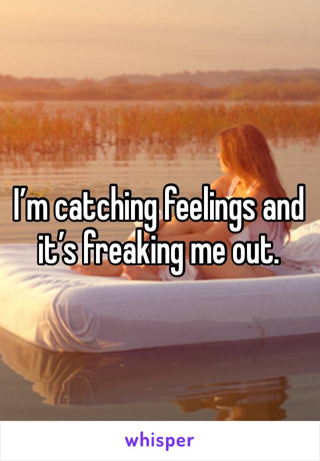 I'm catching feelings and it's freaking me out.