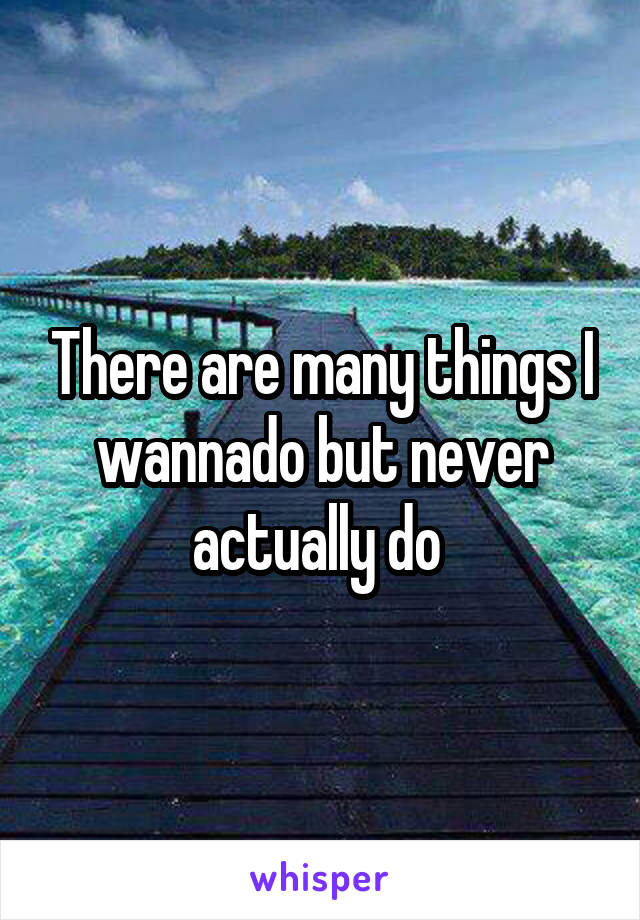 There are many things I wannado but never actually do