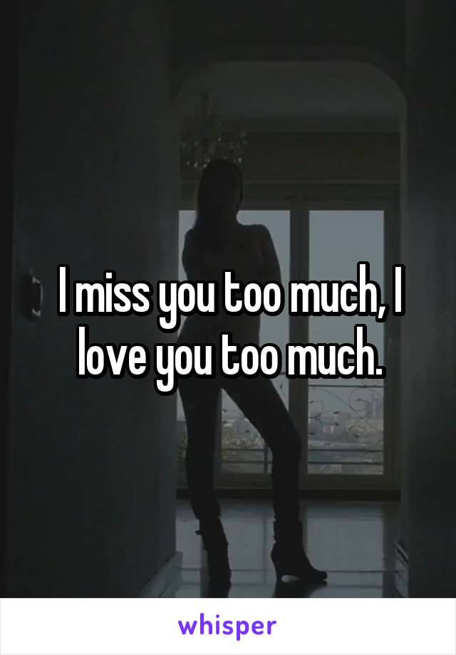 I miss you too much, I love you too much.