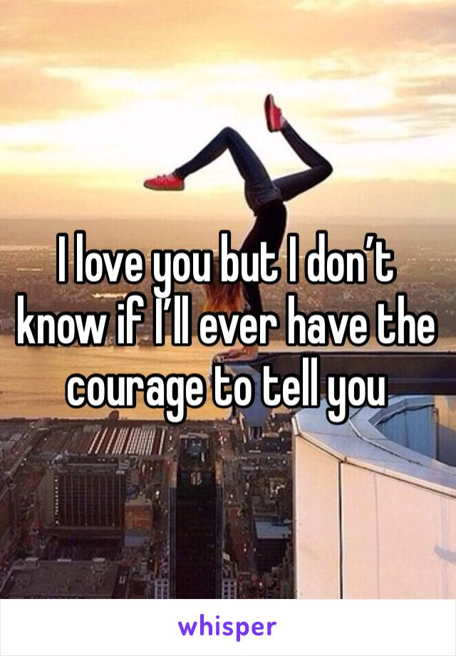 I love you but I don't know if I'll ever have the courage to tell you