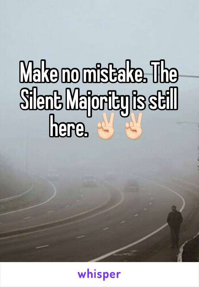 Make no mistake. The Silent Majority is still here. ✌🏻✌🏻