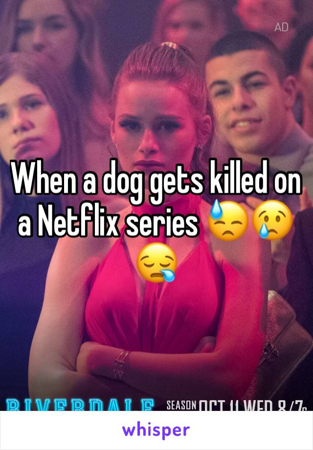 When a dog gets killed on a Netflix series 😓😢😪