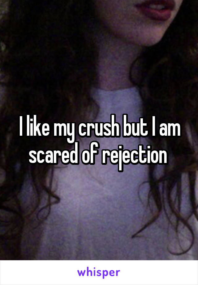 I like my crush but I am scared of rejection