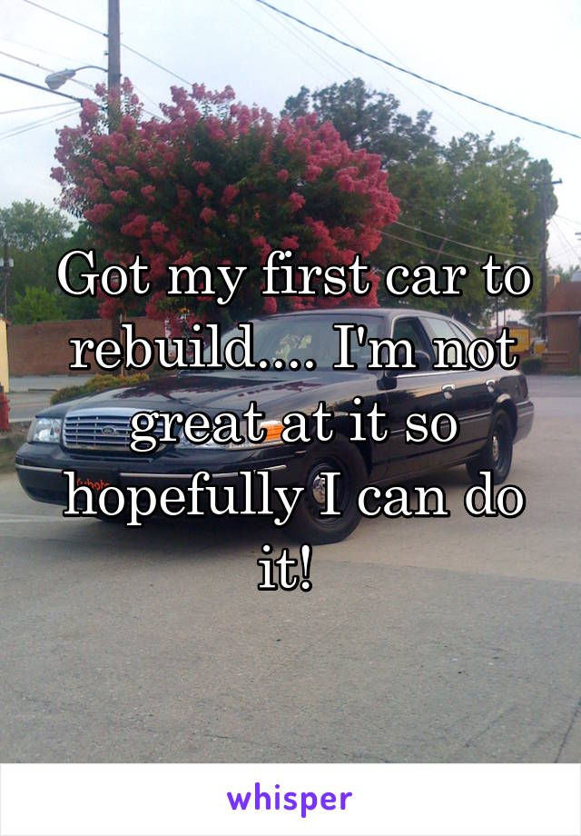Got my first car to rebuild.... I'm not great at it so hopefully I can do it!