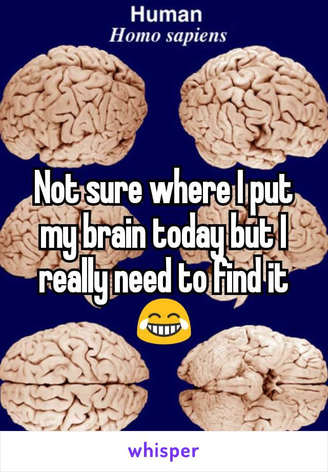 Not sure where I put my brain today but I really need to find it 😂