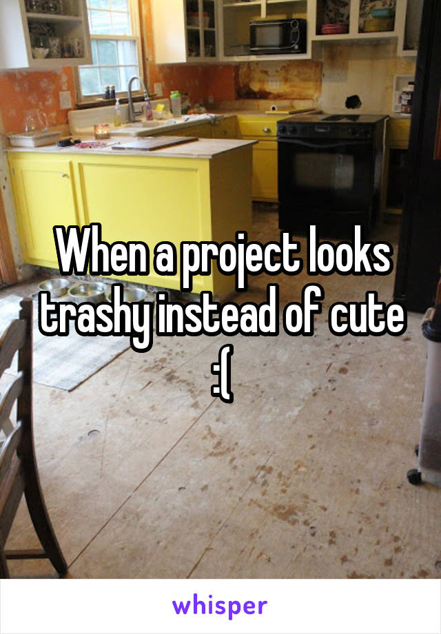 When a project looks trashy instead of cute :(
