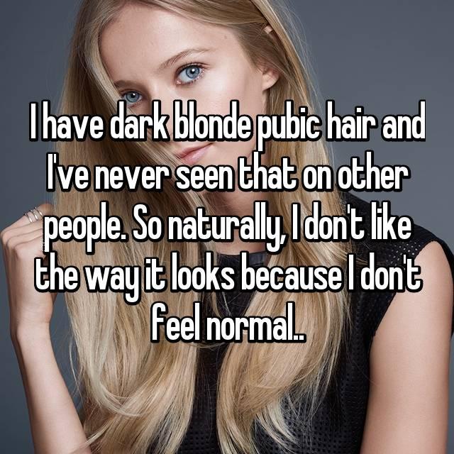Blonde pubic hair photos