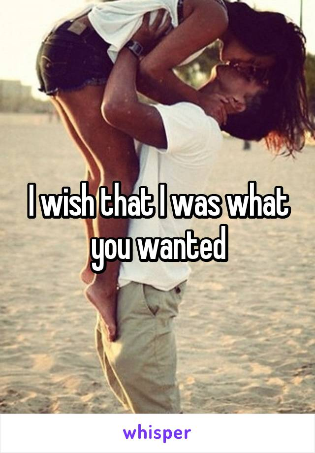 I wish that I was what you wanted