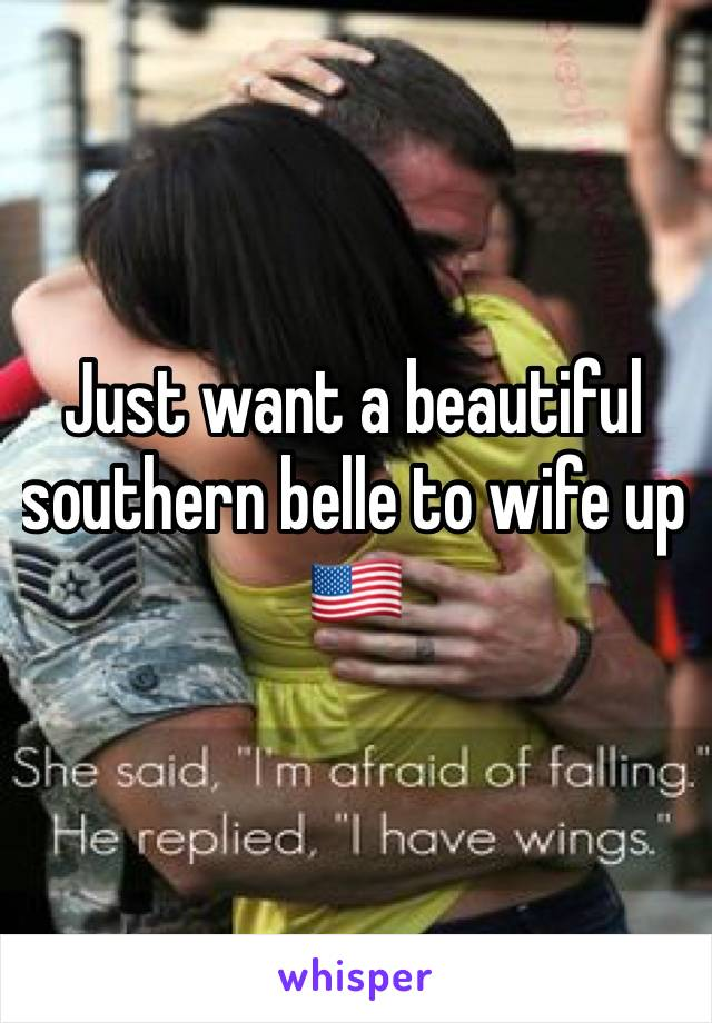 Just want a beautiful southern belle to wife up 🇺🇸