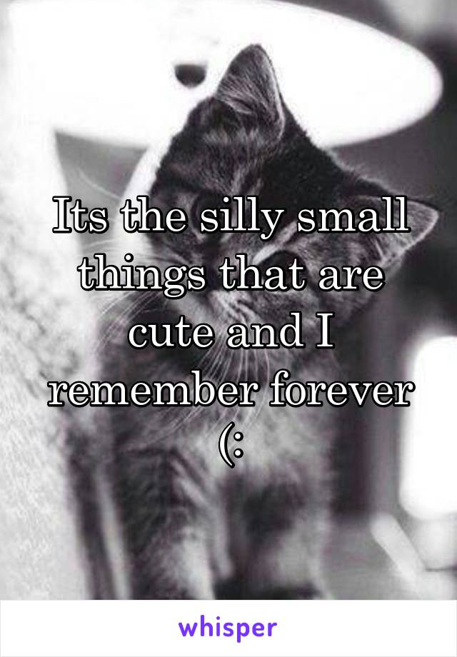 Its the silly small things that are cute and I remember forever (: