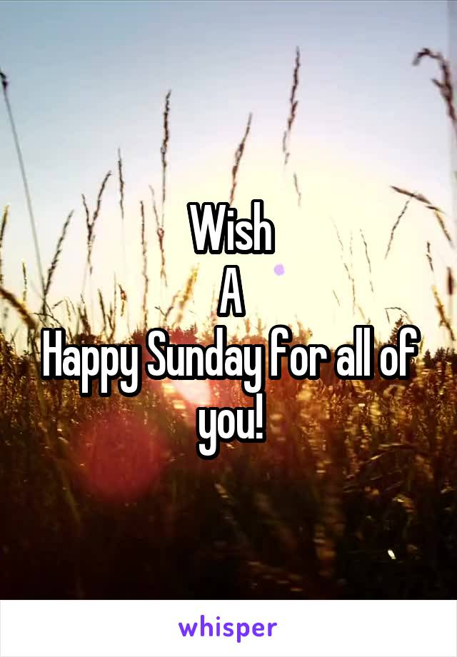 Wish A Happy Sunday for all of you!