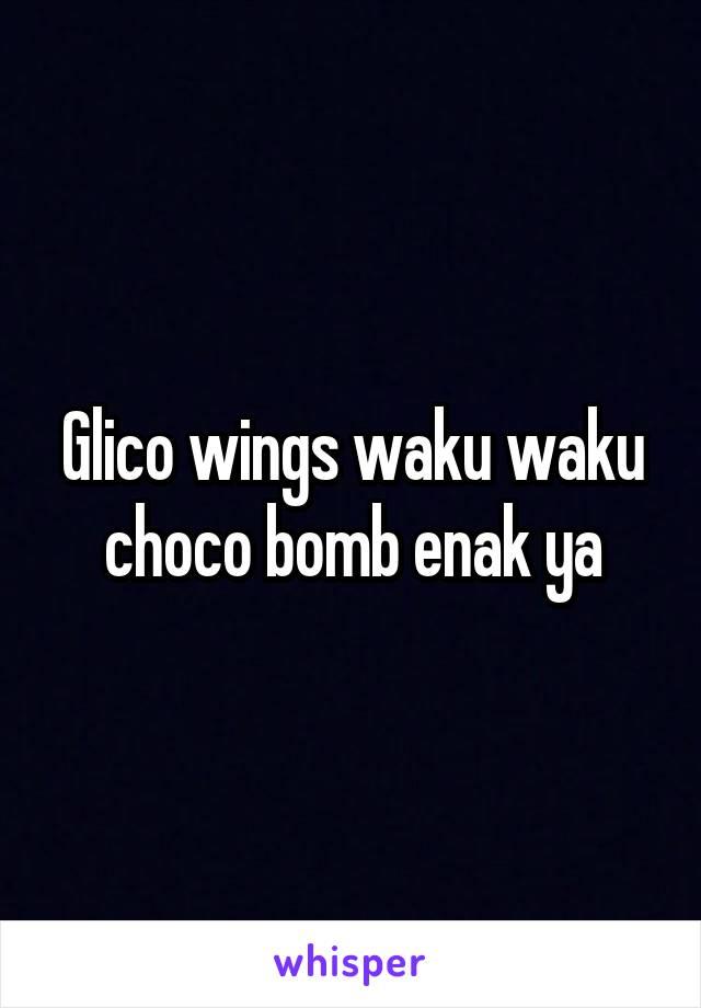 Glico wings waku waku choco bomb enak ya