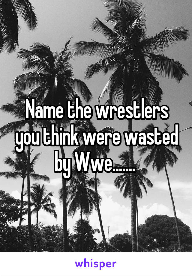 Name the wrestlers you think were wasted by Wwe.......