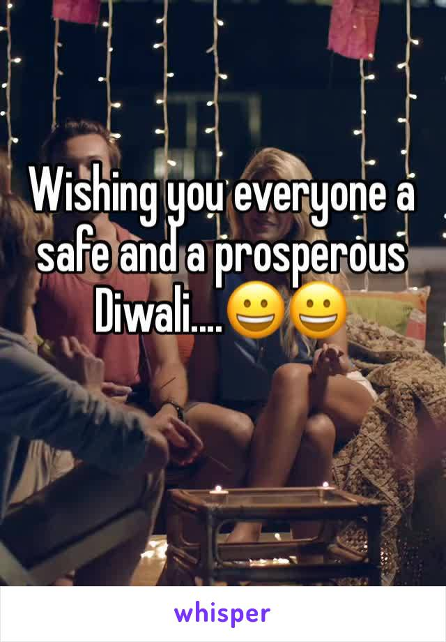 Wishing you everyone a safe and a prosperous Diwali....😀😀
