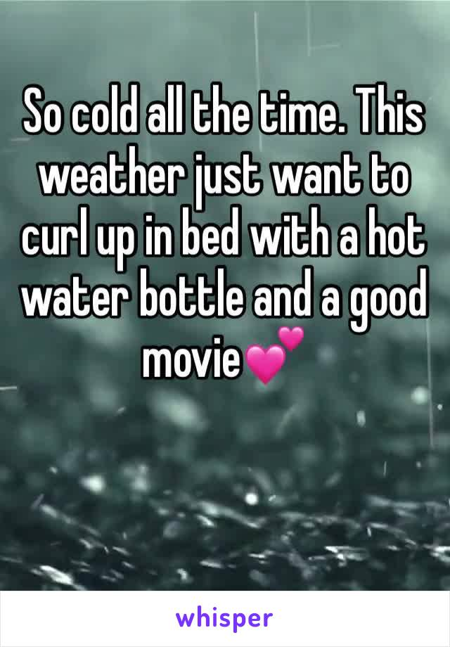 So cold all the time. This weather just want to curl up in bed with a hot water bottle and a good movie💕