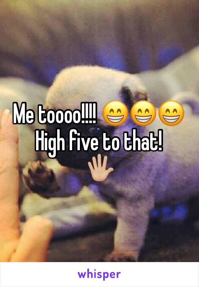 Me toooo!!!! 😁😁😁 High five to that!  🖐🏼