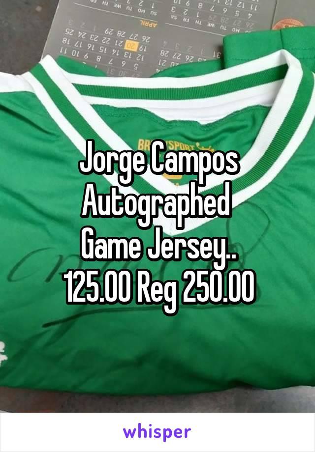 Jorge Campos Autographed  Game Jersey.. 125.00 Reg 250.00