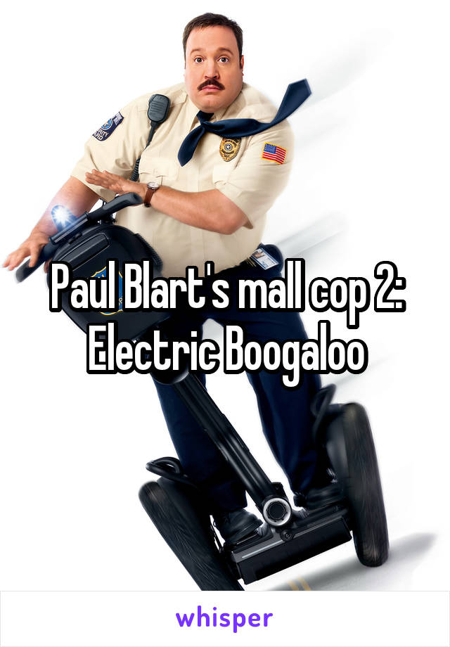 Paul Blart's mall cop 2: Electric Boogaloo