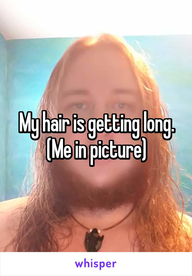 My hair is getting long. (Me in picture)