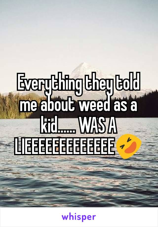 Everything they told me about weed as a kid...... WAS A LIEEEEEEEEEEEEE🤣