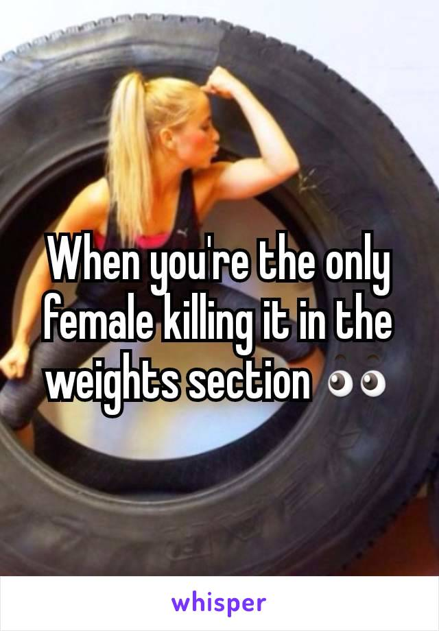 When you're the only female killing it in the weights section 👀