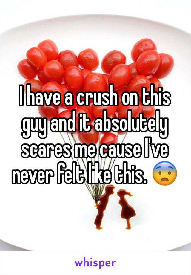 I have a crush on this guy and it absolutely scares me cause I've never felt like this. 😨