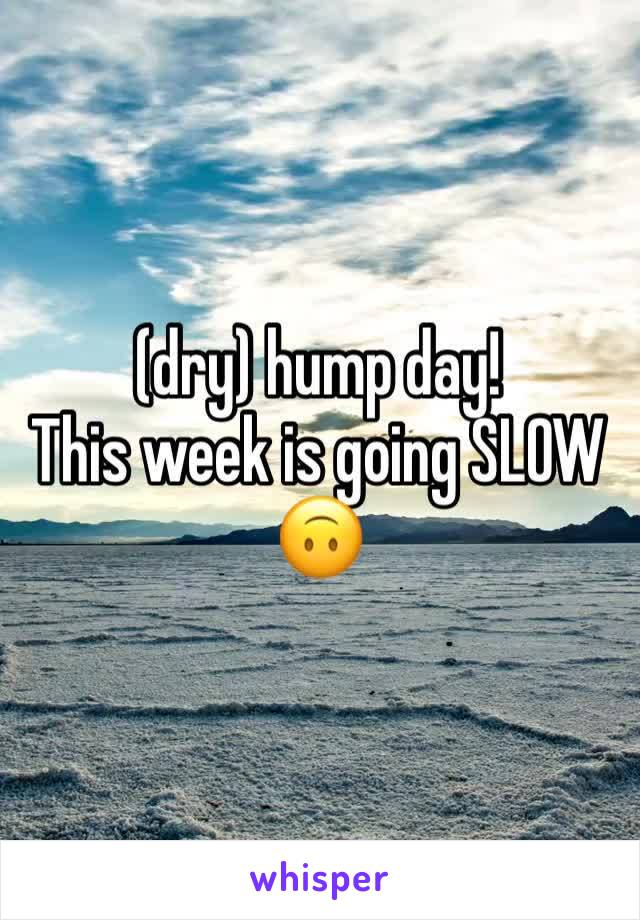 (dry) hump day! This week is going SLOW 🙃