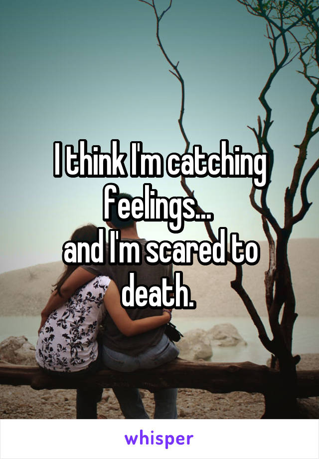 I think I'm catching feelings...  and I'm scared to death.