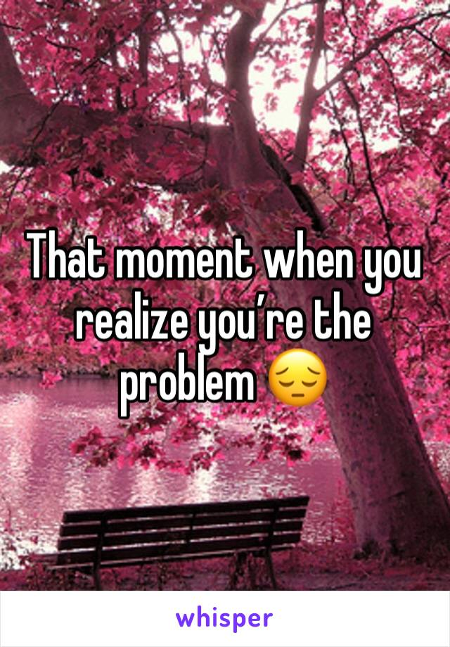 That moment when you realize you're the problem 😔