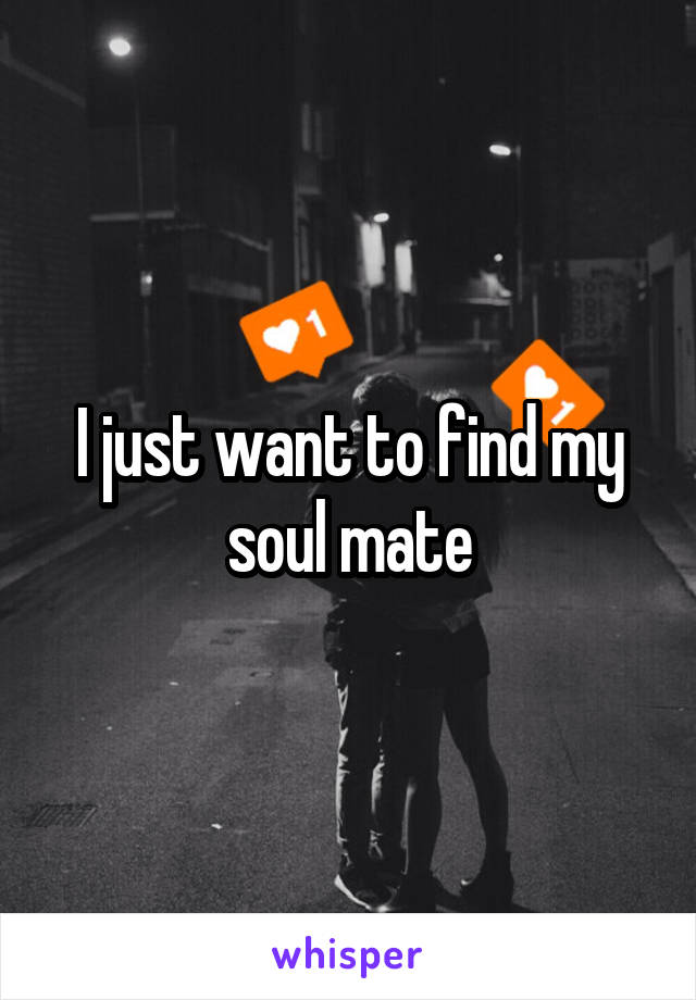 I just want to find my soul mate