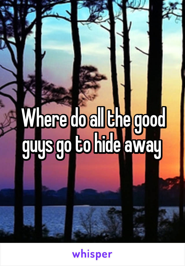 Where do all the good guys go to hide away